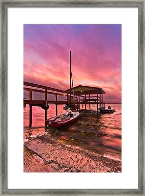 Sebring Sailing Framed Print by Debra and Dave Vanderlaan
