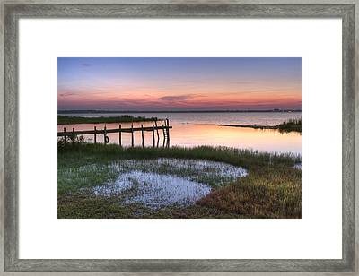 Sebring Sunrise Framed Print by Debra and Dave Vanderlaan