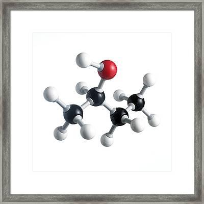 Sec-butanol Molecule Framed Print by