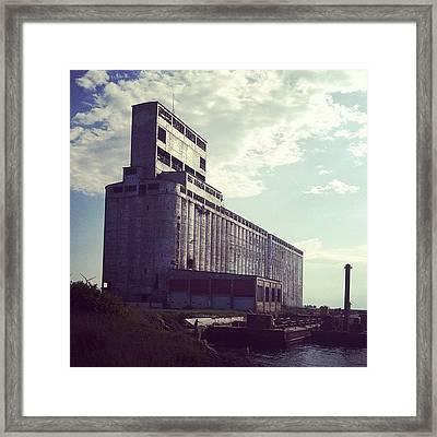 #secluded #abandoned #building Framed Print