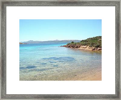 Secluded Beach Framed Print by Holidaygold