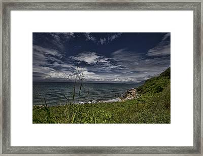 Secluded Cove Framed Print by Douglas Barnard