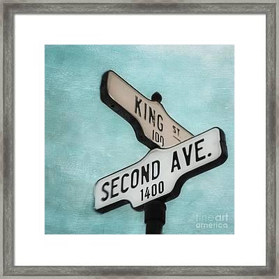 second Avenue 1400 Framed Print