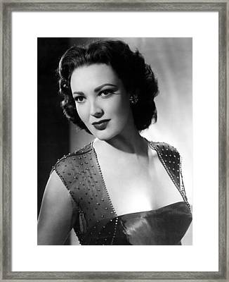 Second Chance, Linda Darnell, 1953 Framed Print