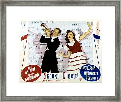 Second Chorus, Fred Astaire, Paulette Framed Print by Everett