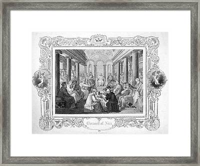 Second Council Of Nicaea Framed Print by Granger