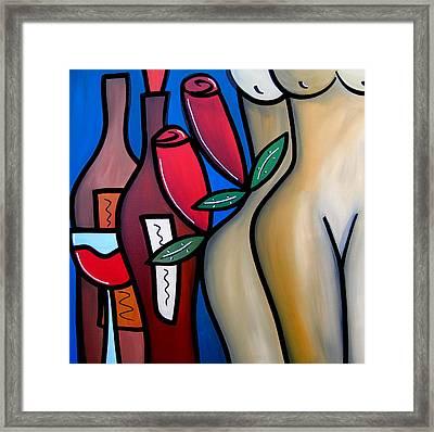 Secret - Nude Wine Art By Fidostudio Framed Print by Tom Fedro - Fidostudio