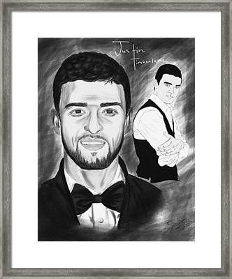Secret Agent Justin Timberlake Framed Print by Kenal Louis