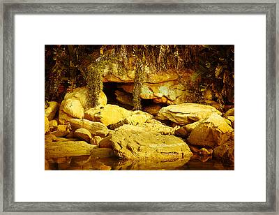 Secret Cave Framed Print by Miguel Capelo