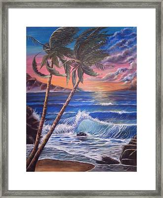 Secret Cove Framed Print by Anna Gitchel