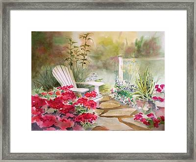 Framed Print featuring the painting Secret Garden by Richard Willows