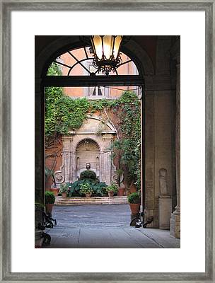 Secret View In Rome Framed Print