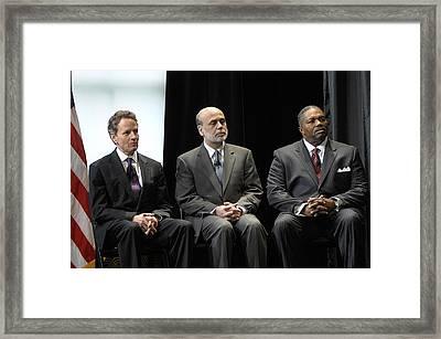 Secretary Geithner Federal Reserve Framed Print