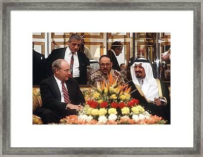 Secretary Of Defense Dick Cheney Meets Framed Print by Everett