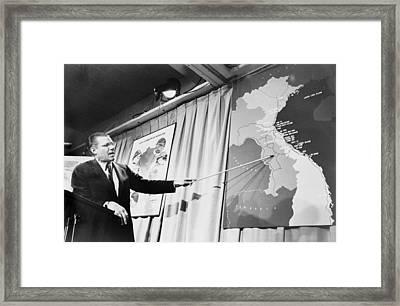 Secretary Of Defense Robert Mcnamera Framed Print by Everett