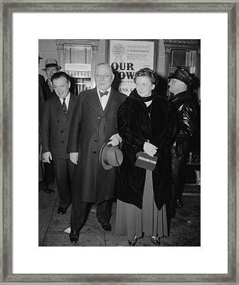 Secretary Of Labor Frances Perkins Framed Print by Everett