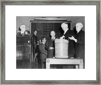 Secretary Of Navy Frank Knox Framed Print by Everett