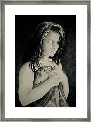Framed Print featuring the drawing Secrets by Lynn Hughes