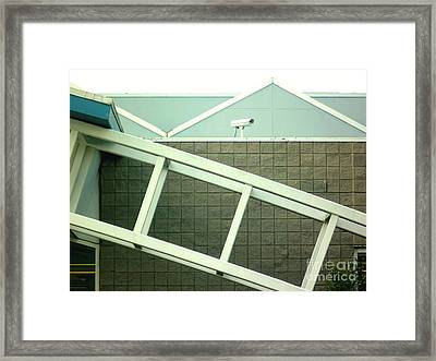 Framed Print featuring the photograph Security Camera On Government Building by Renee Trenholm