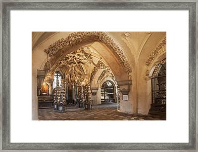 Sedlec, All Saints Chapel, The Ossuary Framed Print