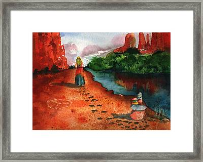 Sedona Arizona Spiritual Vortex Zen Encounter Framed Print by Sharon Mick
