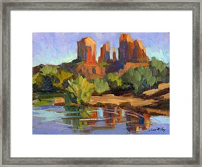 Sedona Cathedral Rock Framed Print by Diane McClary