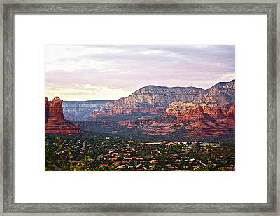 Sedona Evening Framed Print