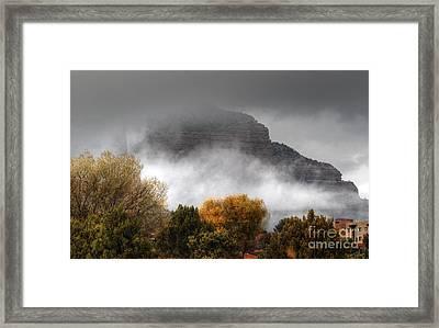 Sedona Fog Framed Print