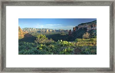 Sedona From Brins Mesa Framed Print