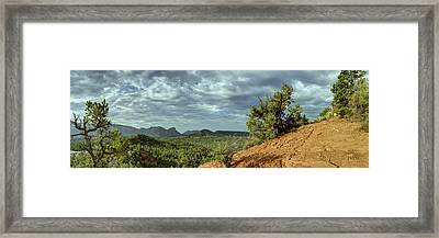 Sedona From The Top Of Jordan Trail Framed Print by Dan Turner