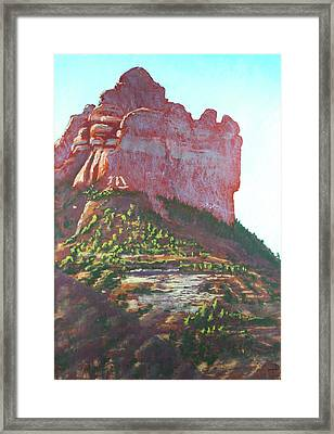 Sedona Shadows Framed Print
