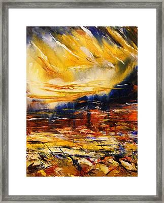 Sedona Sky Framed Print by Karen  Ferrand Carroll