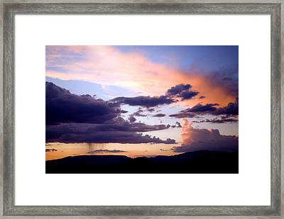 Sedona Summer Storms Framed Print