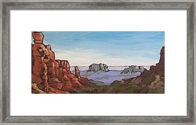 Sedona Vista Framed Print by Sandy Tracey