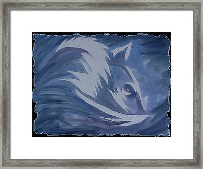 Seduction In Blue Framed Print