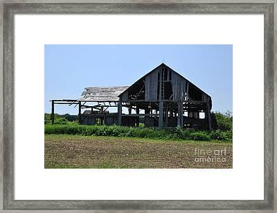 See-through Barn Framed Print by Ginger Harris