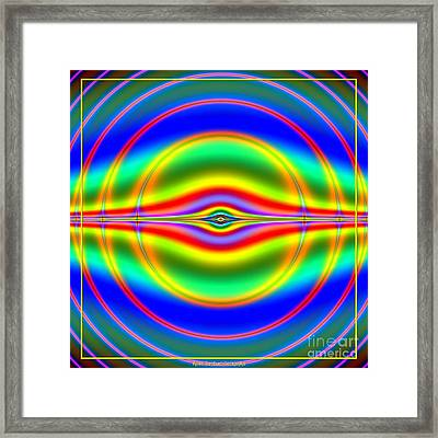 Seeing In Fluorescent Neon Fractal 135 Framed Print by Rose Santuci-Sofranko