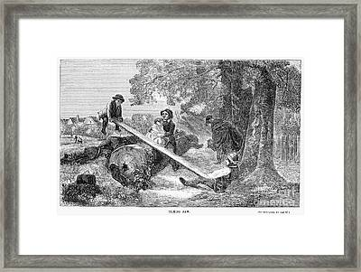 Seesaw, 1855 Framed Print by Granger