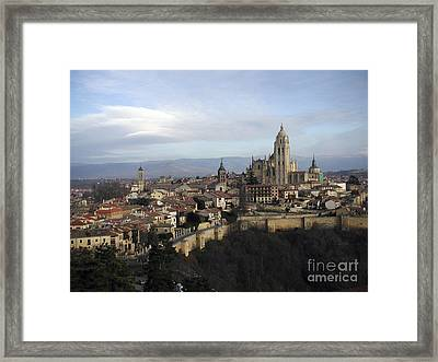 Framed Print featuring the photograph Segovia by Leslie Hunziker