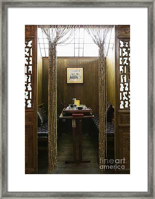 Segregated Booth In An Asian Restaurant Framed Print