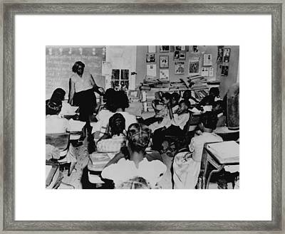 Segregated Classroom. Six Years Framed Print by Everett