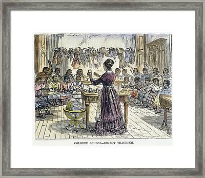 Segregated School, 1870 Framed Print