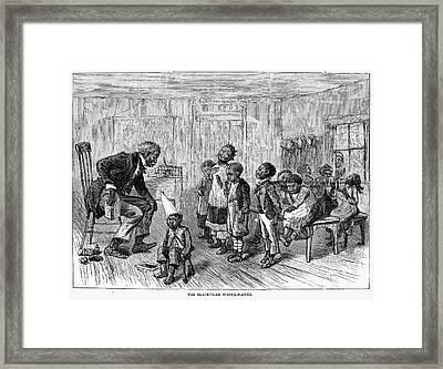 Segregated School, 1879 Framed Print