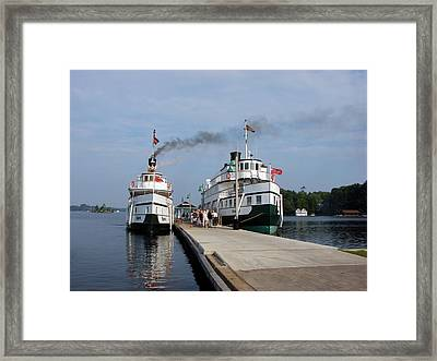 Seguin And Winona At Gravenhurst Framed Print