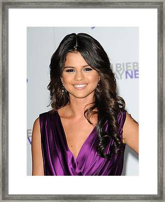 Selena Gomez At Arrivals For Justin Framed Print by Everett