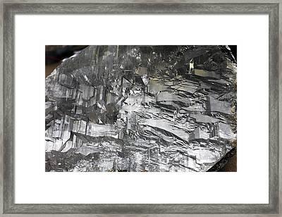 Selenite Mineral Sample Framed Print