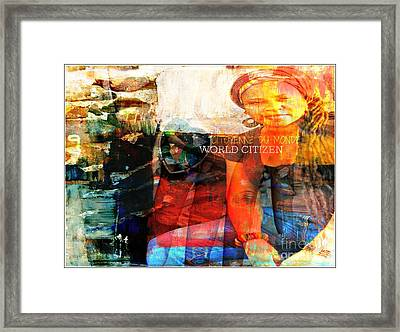 Self - Between The World And Me Framed Print by Fania Simon
