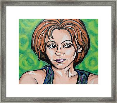 Framed Print featuring the painting Self 2011 by Sarah Crumpler