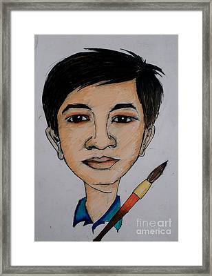 Self Carrcature Framed Print by Tanmay Singh