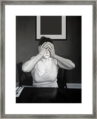 Self - Censure Framed Print by Michael Harris